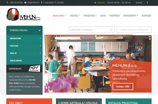 Mehun d.o.o. dentalni laboratorij web referenca Burza ideja