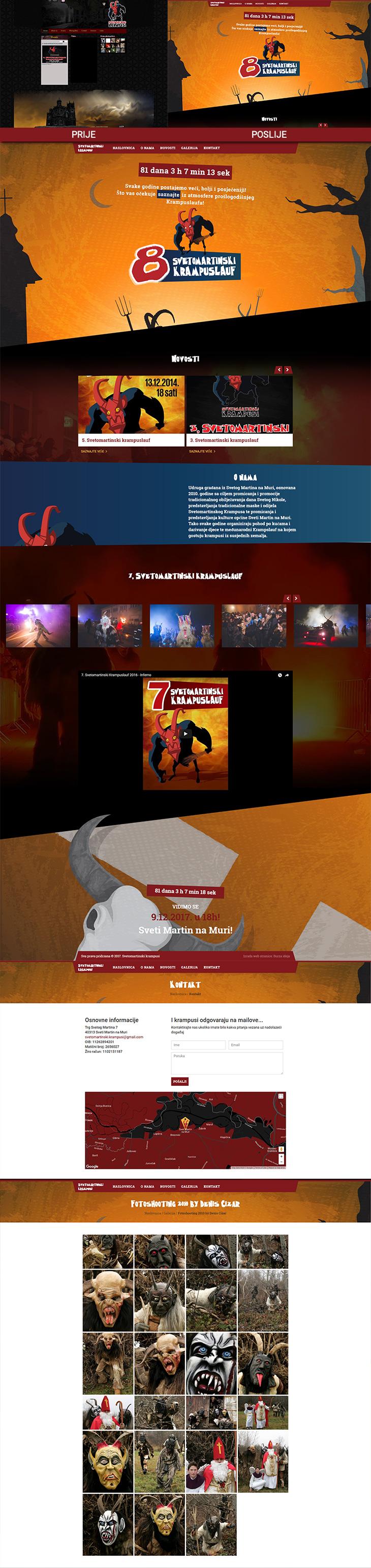 Svetomartinski krampusi - redizajn web stranice