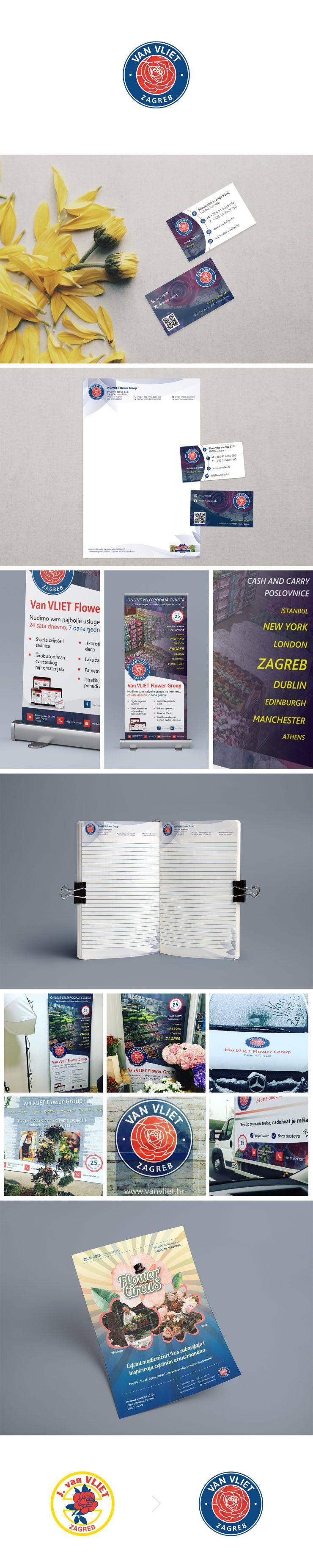 Van Vliet Zagreb - Logo redizajn i promotivni materijali