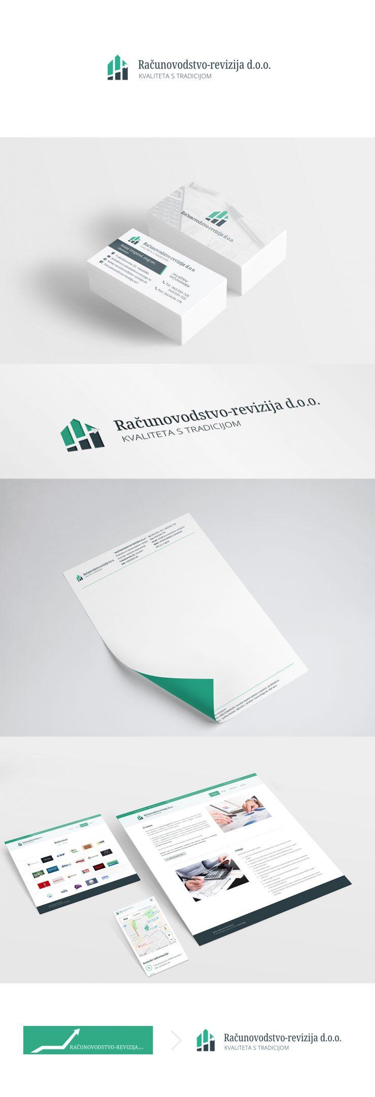 Računovodstvo-revizija - redizajn loga