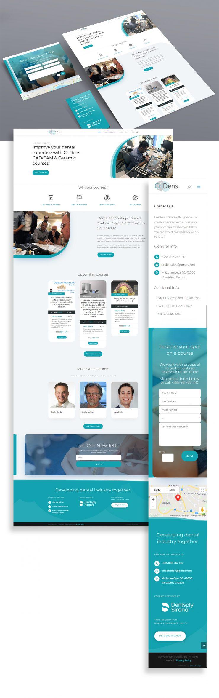 CriDens - izrada web stranice